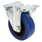 Fixed Castor 100mm with Blue Wheel