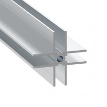 4 Way Divider Extrusion for 7mm Panels - 1 Metre Length