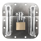 Surface Mount Padlockable Dish (Padlock Not Included) NEW!