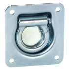 D Ring Snap Back Roping Eye, Zinc Plated