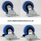 100mm Flightcase Castors - Set of 4