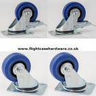 80mm Flightcase Castors - Set of 4