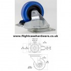 100mm Swivel Blue Castor with Brake