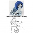80mm Swivel Blue Castor