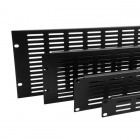 1U- Vented Black Rack Panel